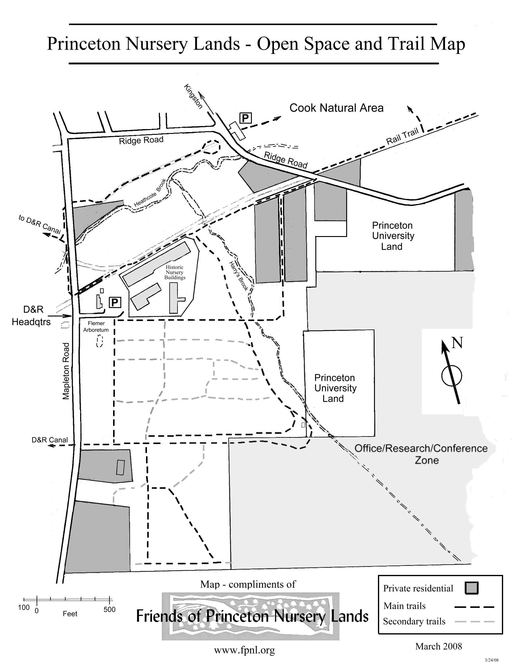 New Open E And Trail Map Of The Princeton Nursery Lands